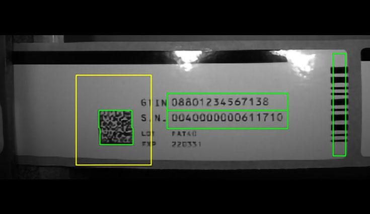 Sistemas de inspeção de visão OCR / OCV